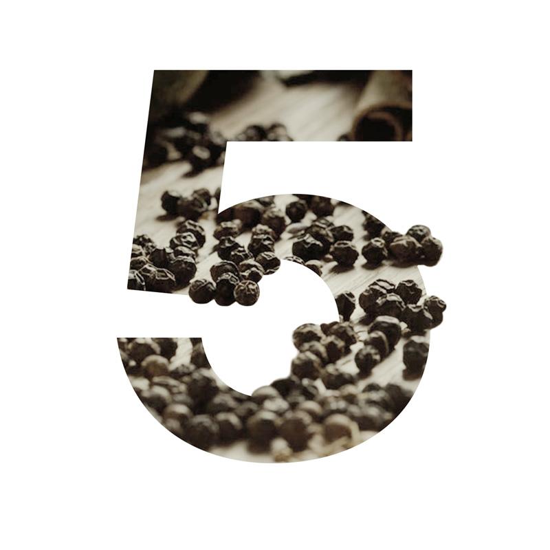 5 Black Pepper
